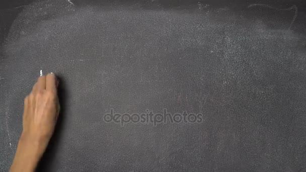 Ruční psaní Inovace na černé tabuli