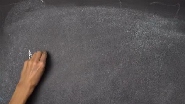 Ruční psaní Mind na černé tabuli