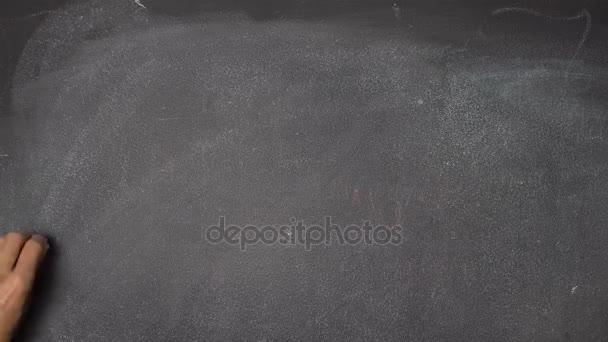 Ruční psaní Motivace na černé tabuli