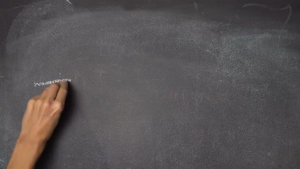 Ruční psaní Školení na černé tabuli