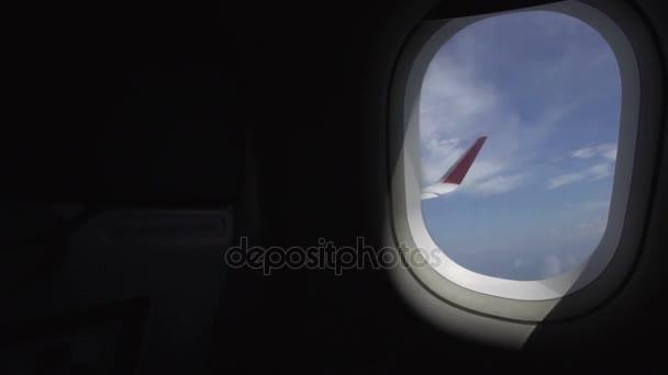 Křídlo z létání airplaine