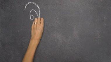 Kézi írás Thai levelet a fekete chalkboard