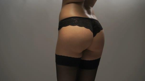 szexi nő fekete fehérnemű