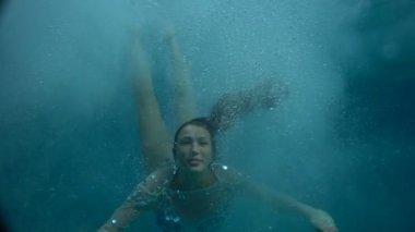 Beautiful girl underwater