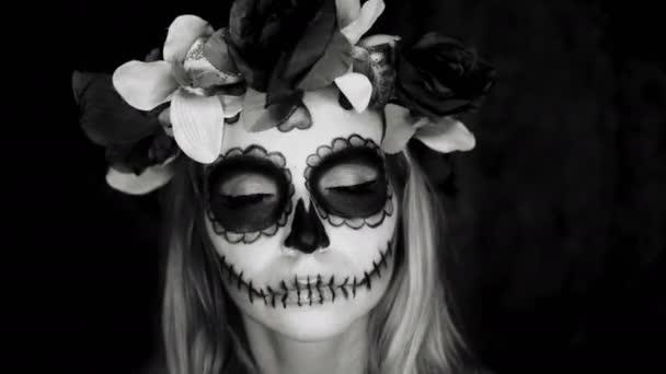 Nő a mexikói cukor koponya smink