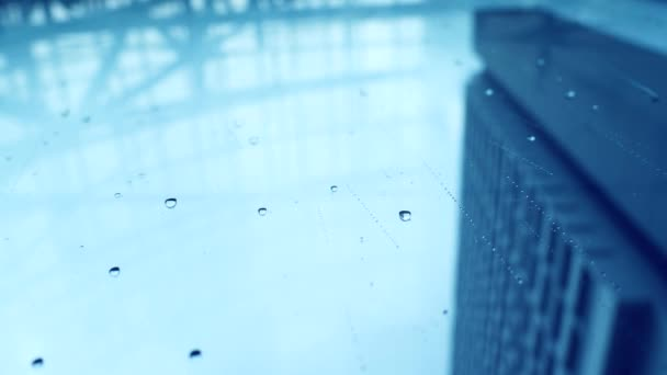 01bb6eb0f02 Chuva Cidade Vista Inferior Vista Urbana Das Gotas Chuva Cai — Vídeo ...