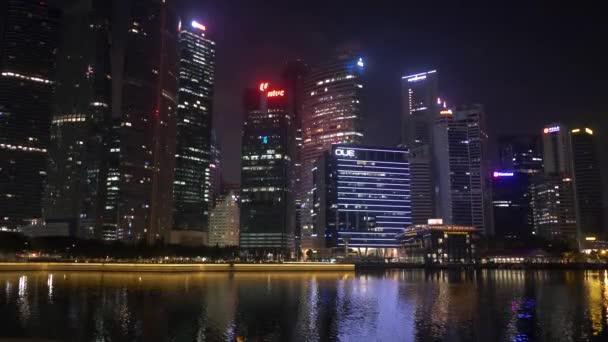 Singapore at night / Singapore city skyscrapers landscape and skyline at night / Singapore city skyscrapers landscape and skyline at night