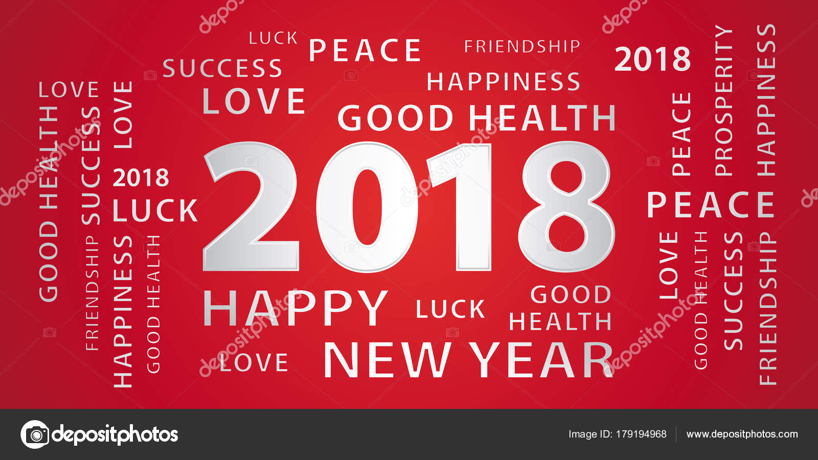 2018 happy new year greetings vector banner red silver stock 2018 happy new year greetings vector banner red silver stock vector m4hsunfo