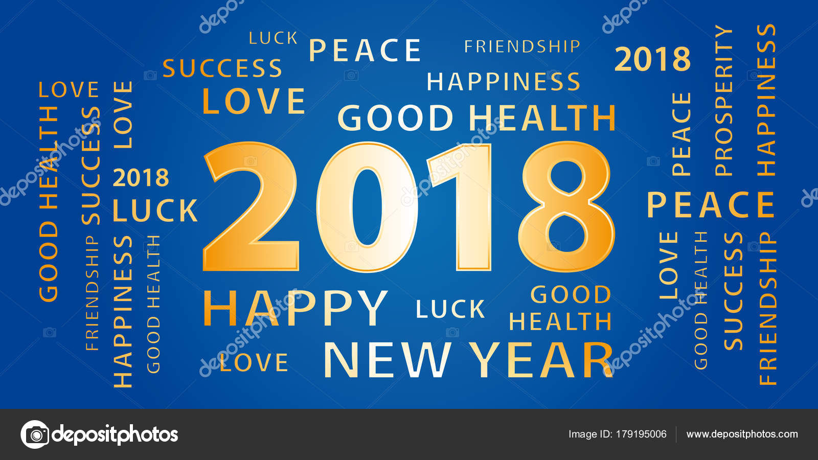 2018 happy new year greetings vector banner blue gold stock vector 2018 happy new year greetings vector banner blue gold stock vector m4hsunfo