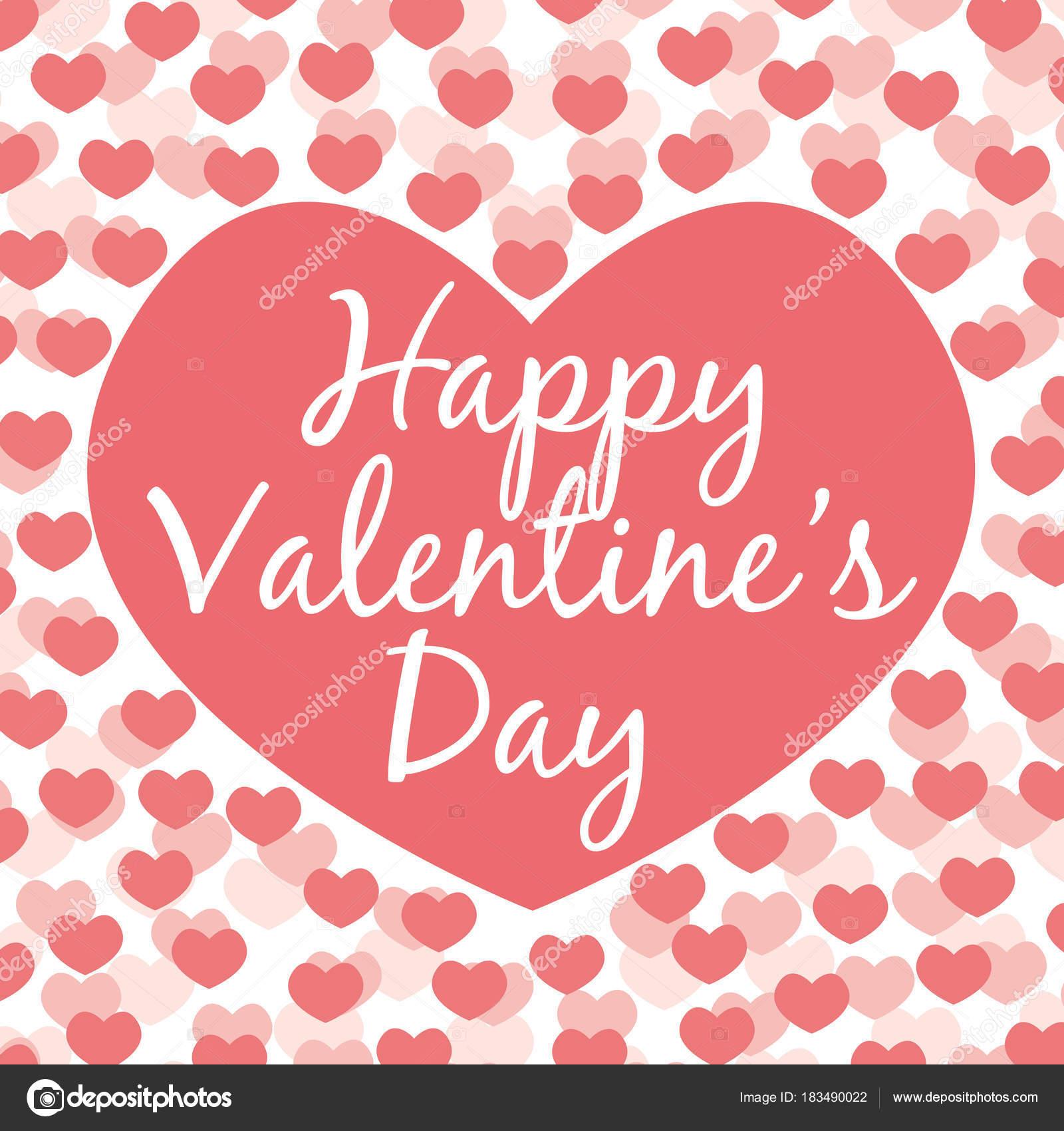 Descargar feliz dia san valentin feliz d a san valent n tarjeta felicitaci n vector tonos - Cartas de san valentin en ingles ...