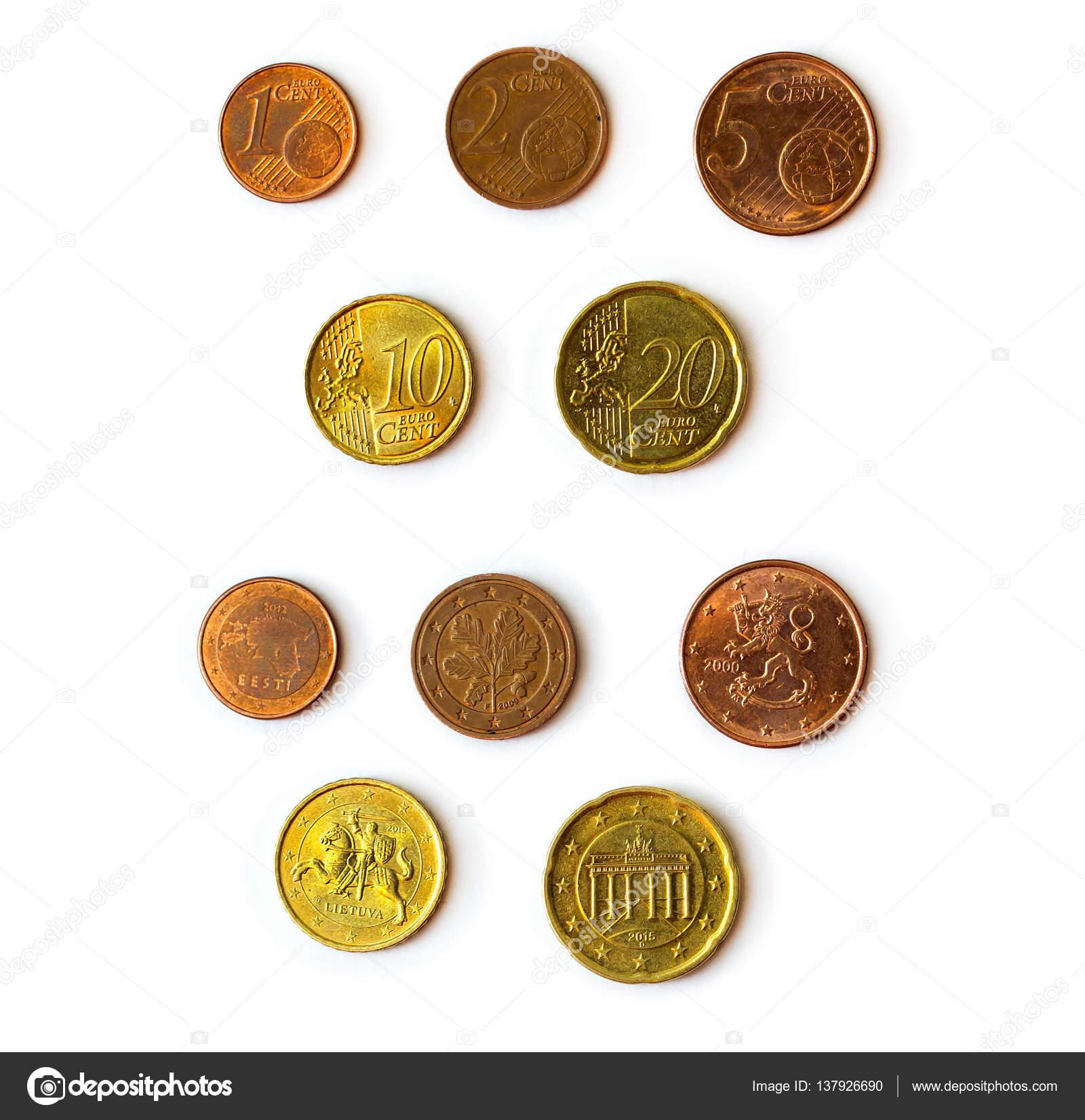 Jeu De Pièces De Monnaie De Cent Euro Photographie Chasdesign
