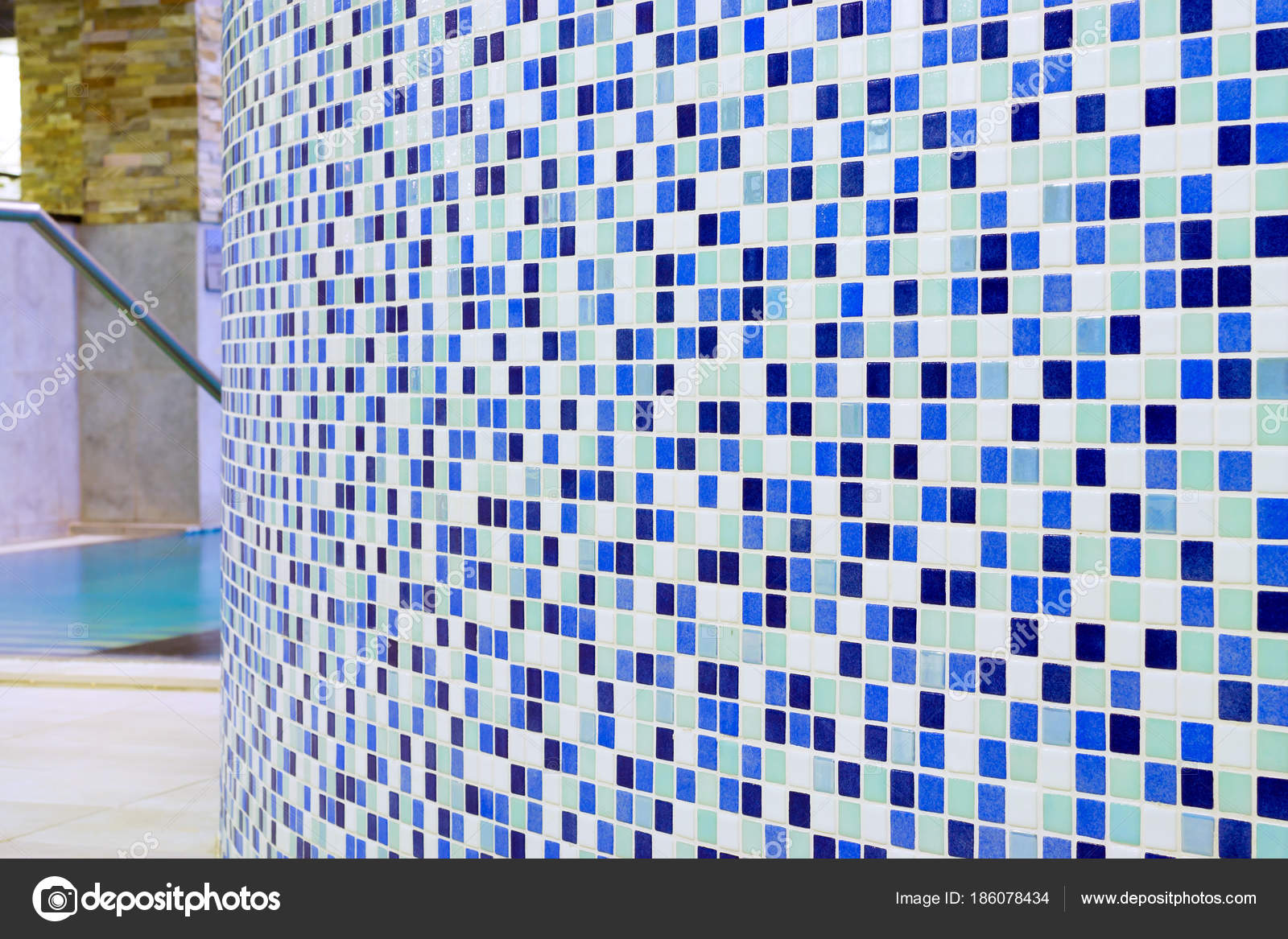 Checkered tile pattern. Detail for bath and pool — Stock Photo ...