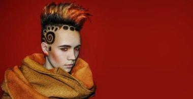 Model Space Sun Hair Tattoo