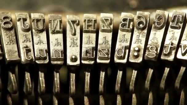 Typing with old typewriting machine