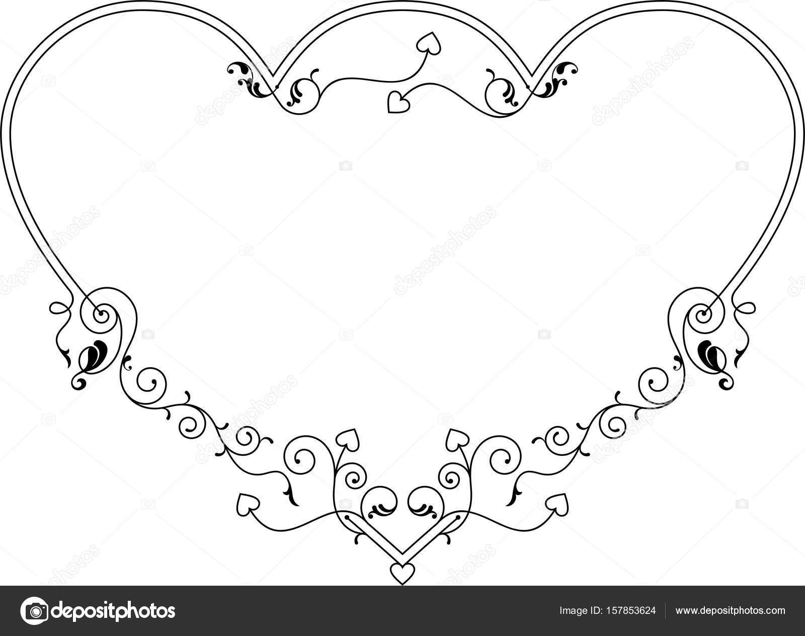 Love, Heart Frame Border Design — Stock Vector © ajayshrivastava ...