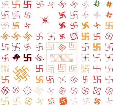 Swastica The Holy Motif Collection Vector Art stock vector