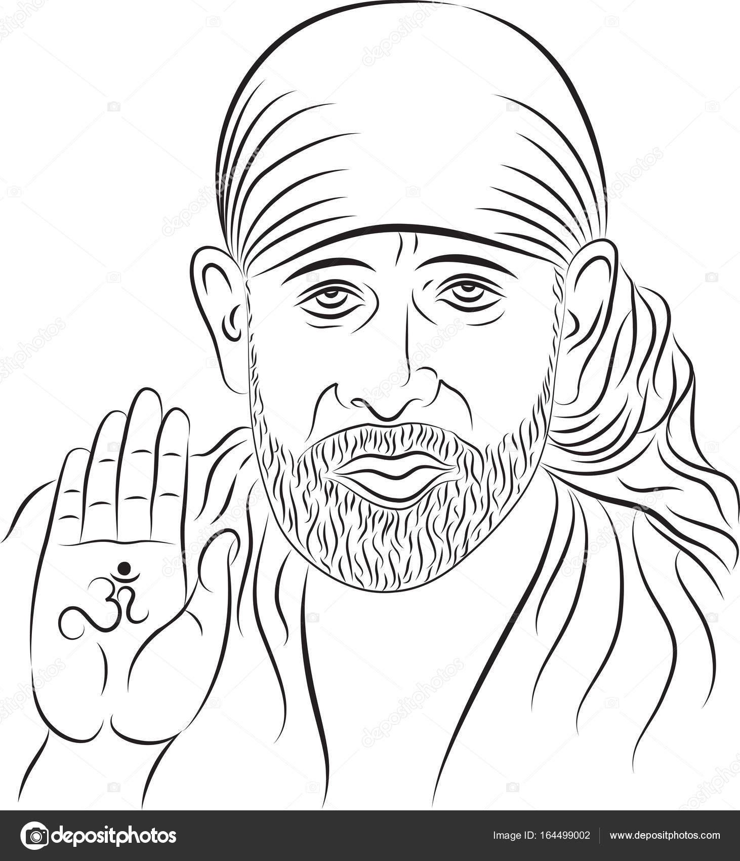 Wallpapers: shirdi sai baba | Calligraphic Shirdi Sai Baba