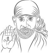 Photo Calligraphic Shirdi Sai Baba