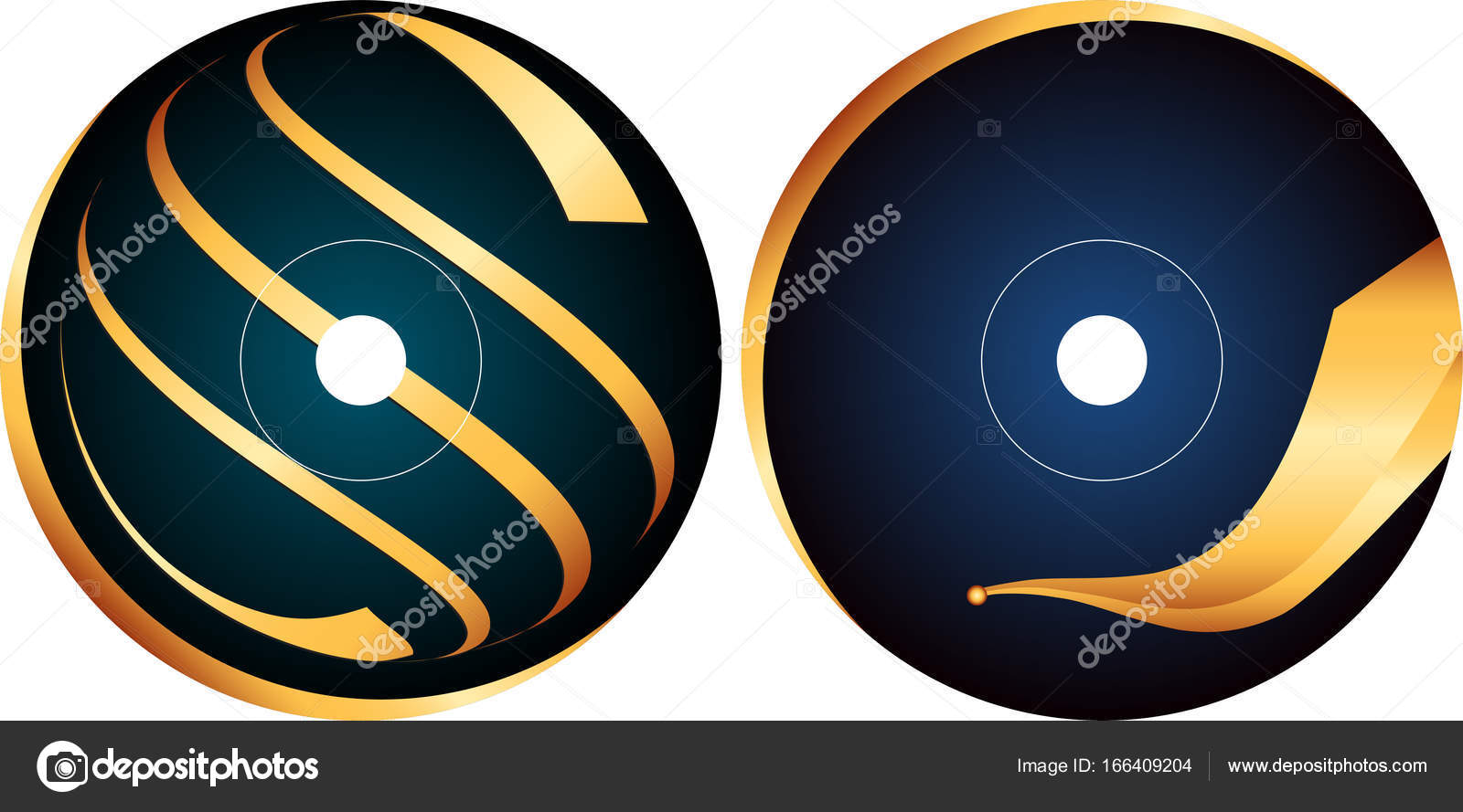 cd dvd label design template stock vector ajayshrivastava