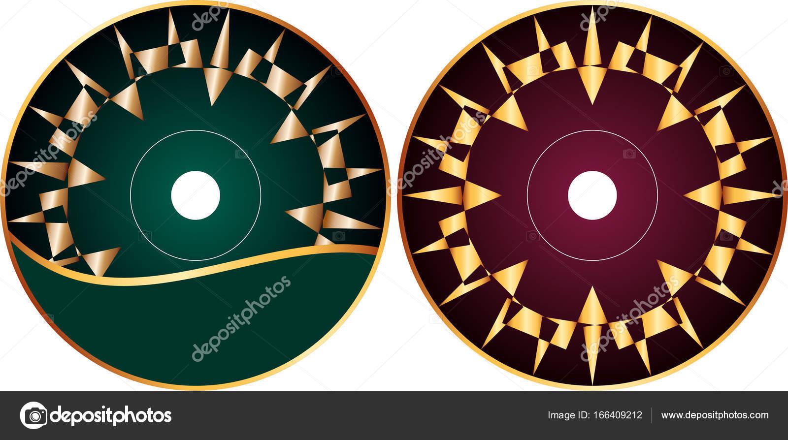 cd dvd ラベル デザイン テンプレート ストックベクター