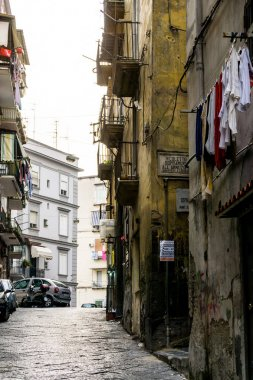 NAPLES, ITALY - January 28, 2017 : Street view of old town in Na