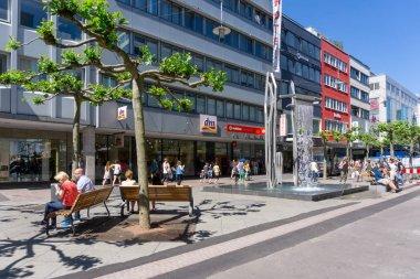 SAARBRUCKEN, GERMANY - May 26, 2017: street view of Saarbrucken,