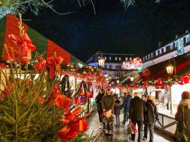 SAARBRUCKEN, GERMANY-DECEMBER 15, 2017: Beautiful decorated boot