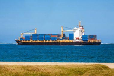 Tropical cargo ship