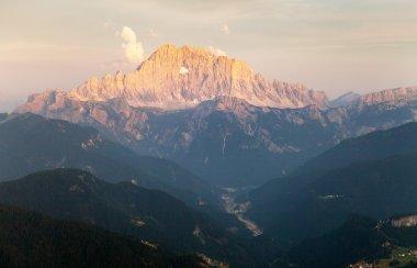 Evening view of Mount Civetta in Italien Dolomites