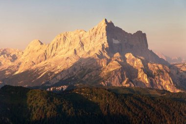 Morning view of Mount Civetta, Dolomites Alps mountains