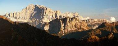 Evening panoramic view of mount Civetta