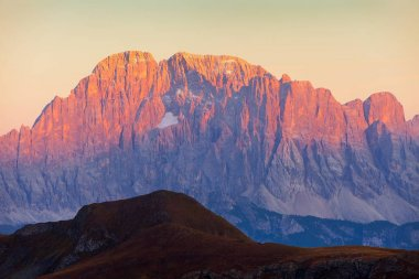 mount Civetta, Alps dolomites mountains, Italy