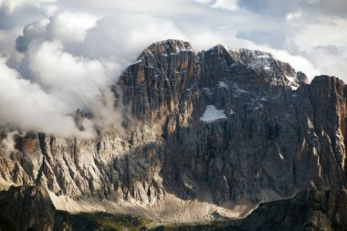 Evening view of Mount Civetta from Col di Lana