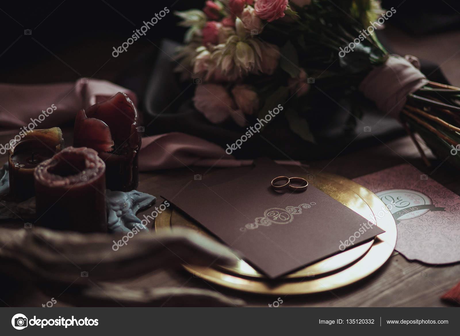 Grafik Der Schonen Hochzeitskarten Rosa Und Braun Goldene Platte
