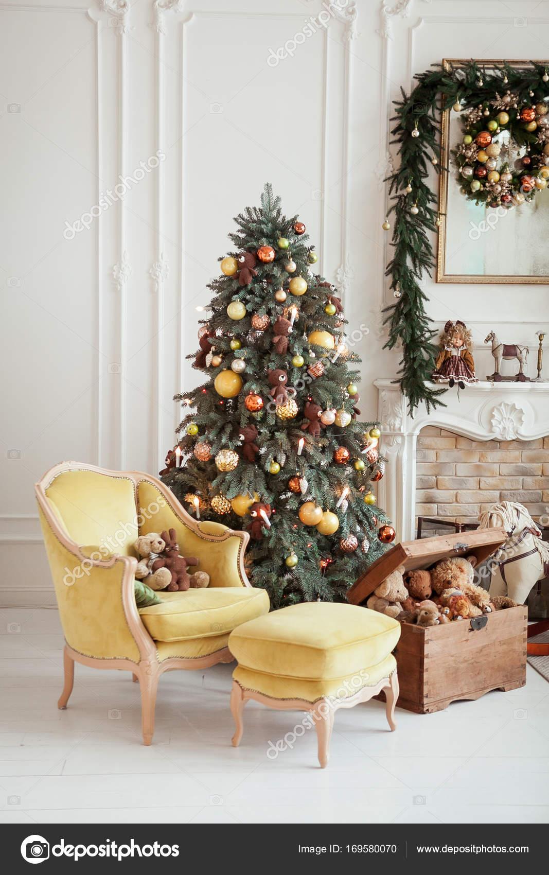 Hermoso Interior De Navidad Decoración De Año Nuevo Sala De Estar