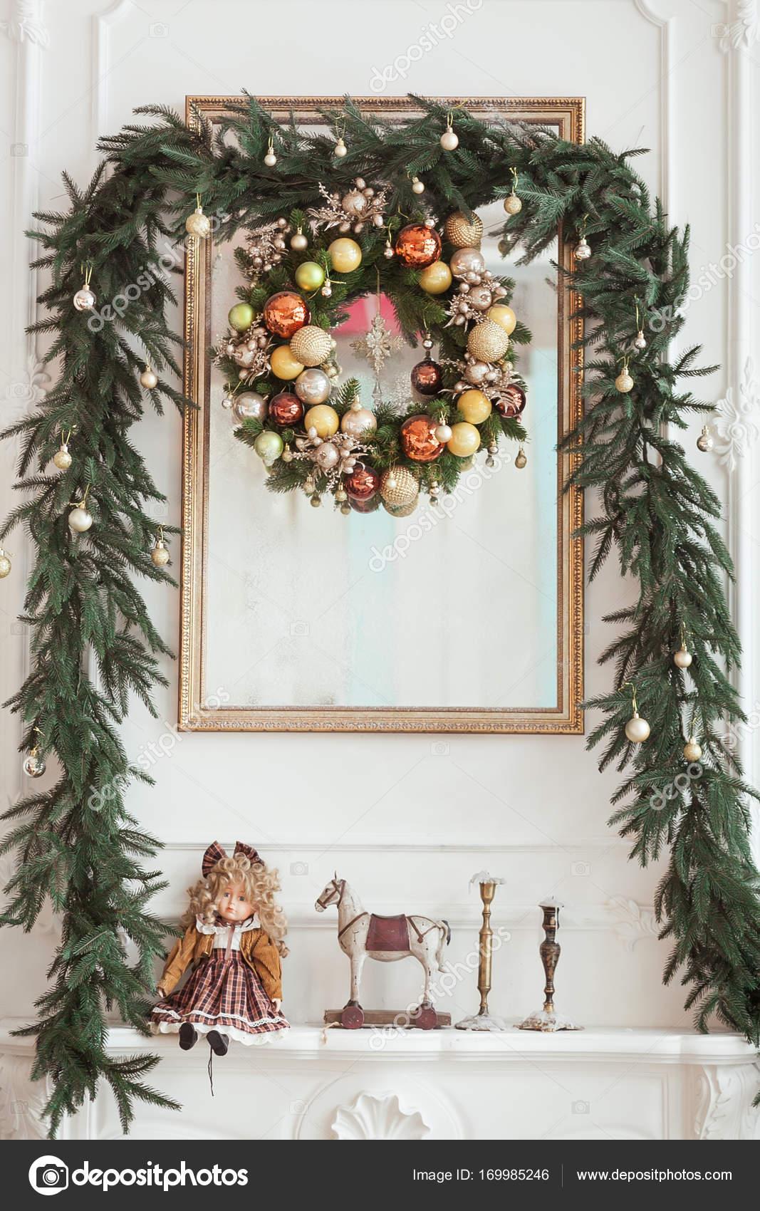 Decorazioni Natalizie Sul Camino.Decorazioni Sul Camino Di Natale A Forma Di Cornice Di Foto