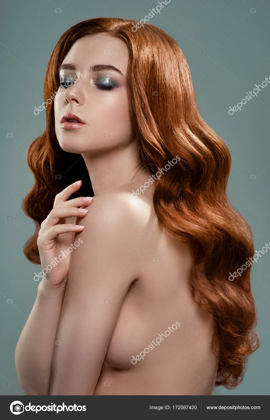 Red women nude Adult hair