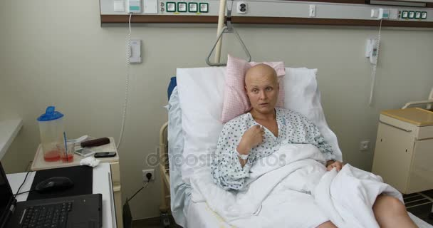 woman patient with cancer in hospital