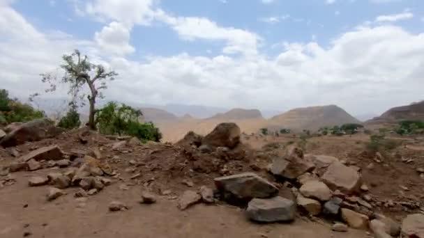 car drive in Simien Mountain, Ethiopia