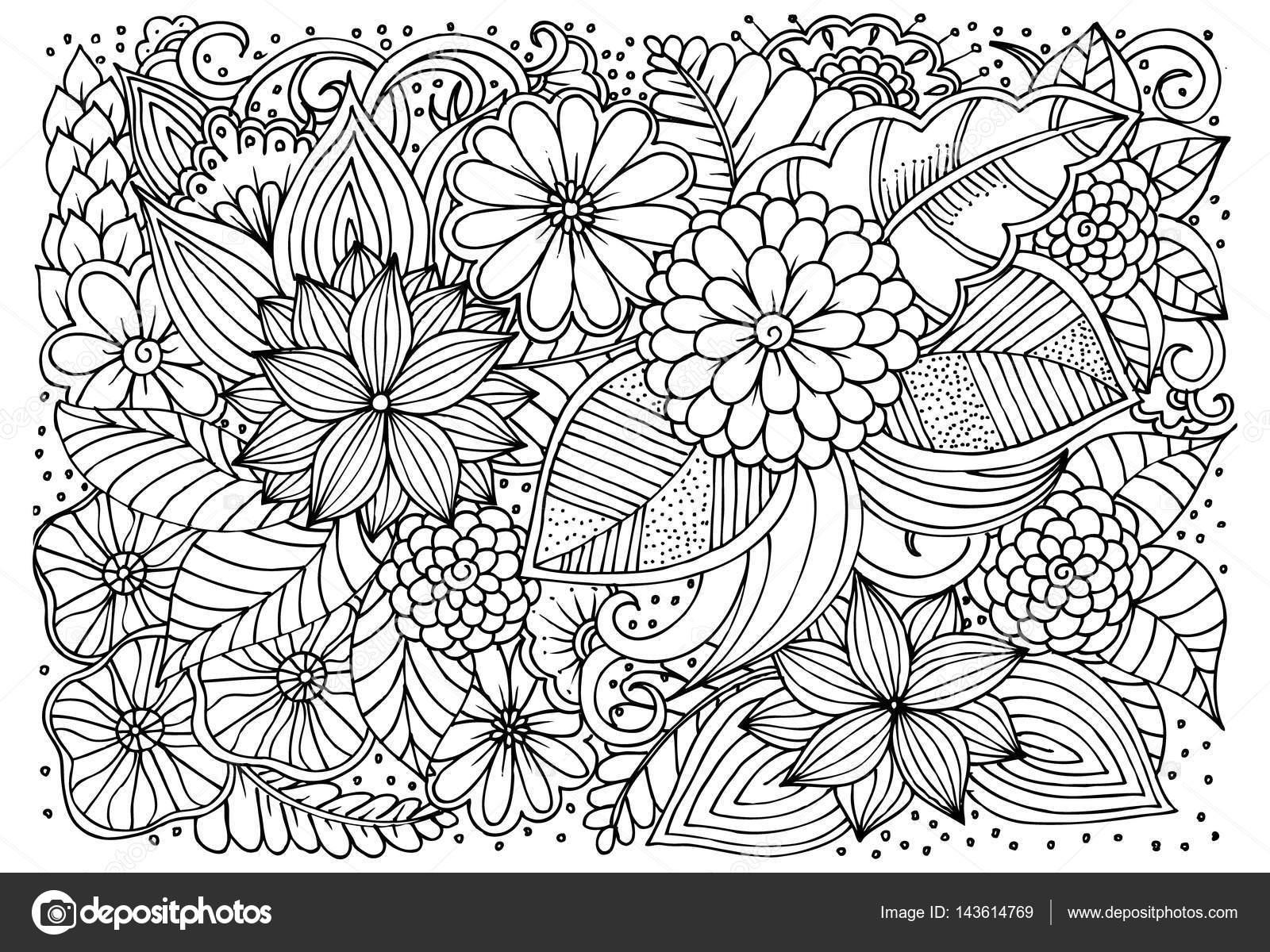 Dorable Intrincadas Páginas Para Colorear Para Niños Composición ...