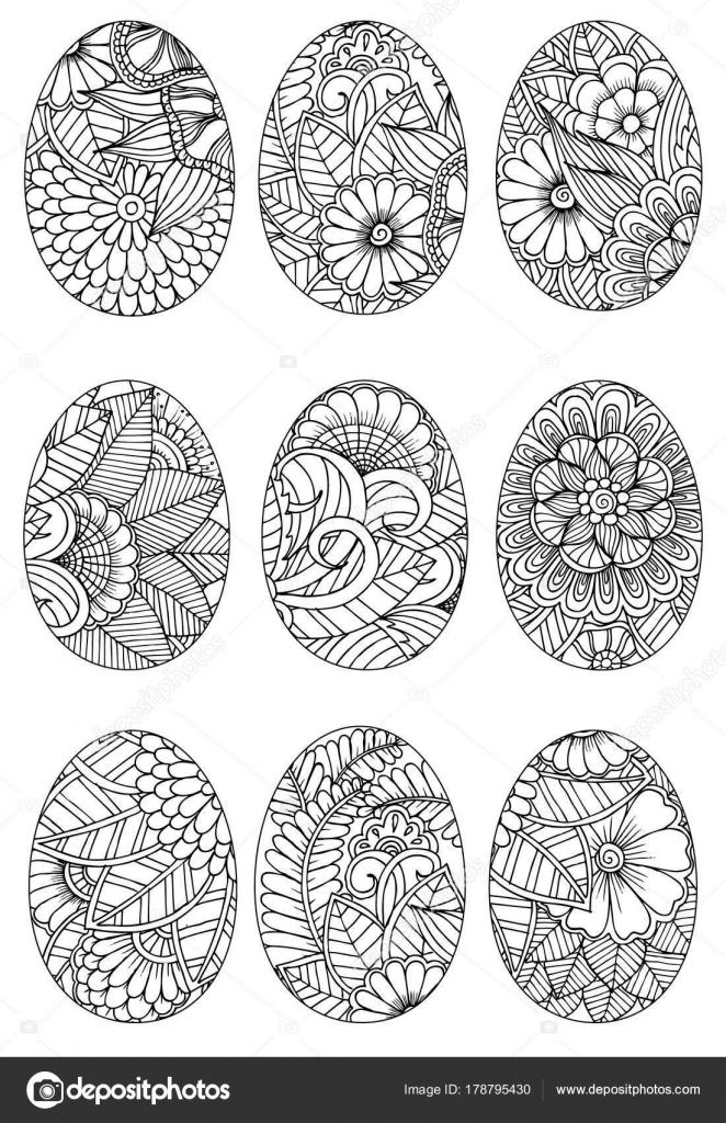 Huevos de Pascua para colorear — Vector de stock © Emila1604 #178795430