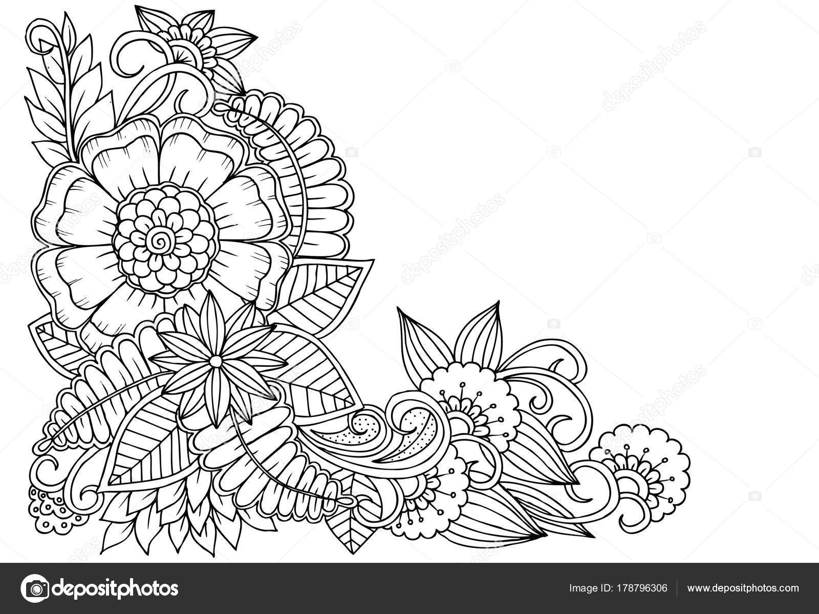 flower corner design drawing flowers healthy