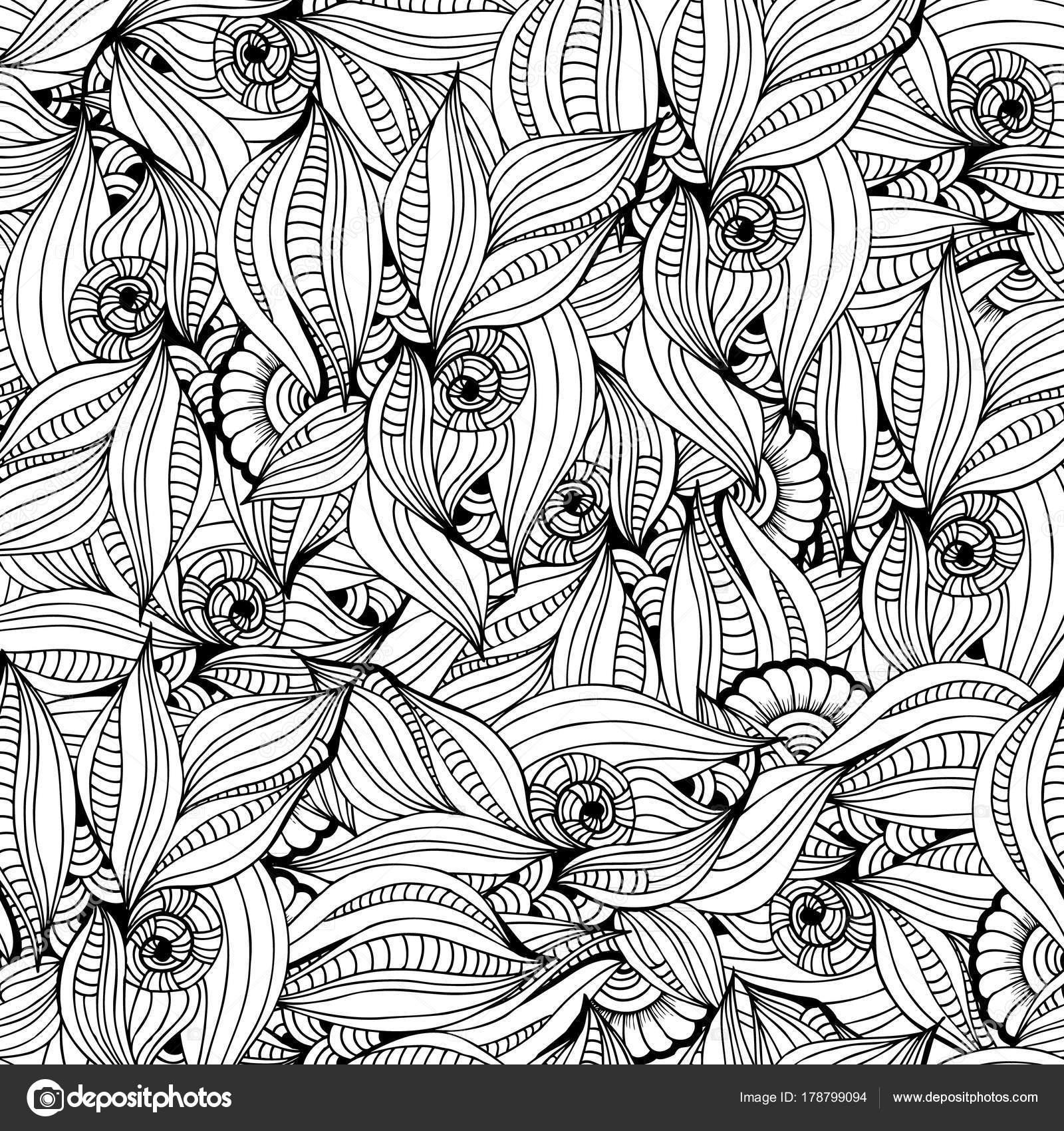 Página para colorear de patrón abstracto monocromo para colorear ...