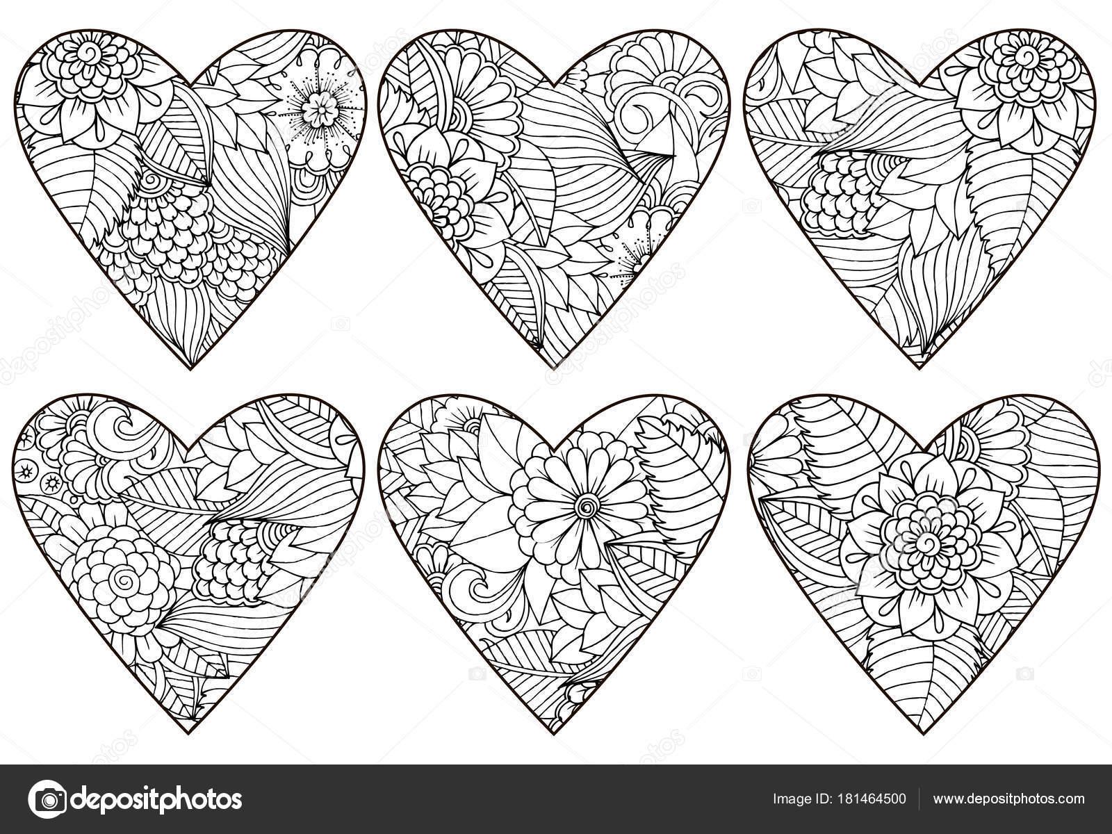 Vektör Kalplerinde çiçek Kalıbı Tanımlar Stok Vektör Emila1604