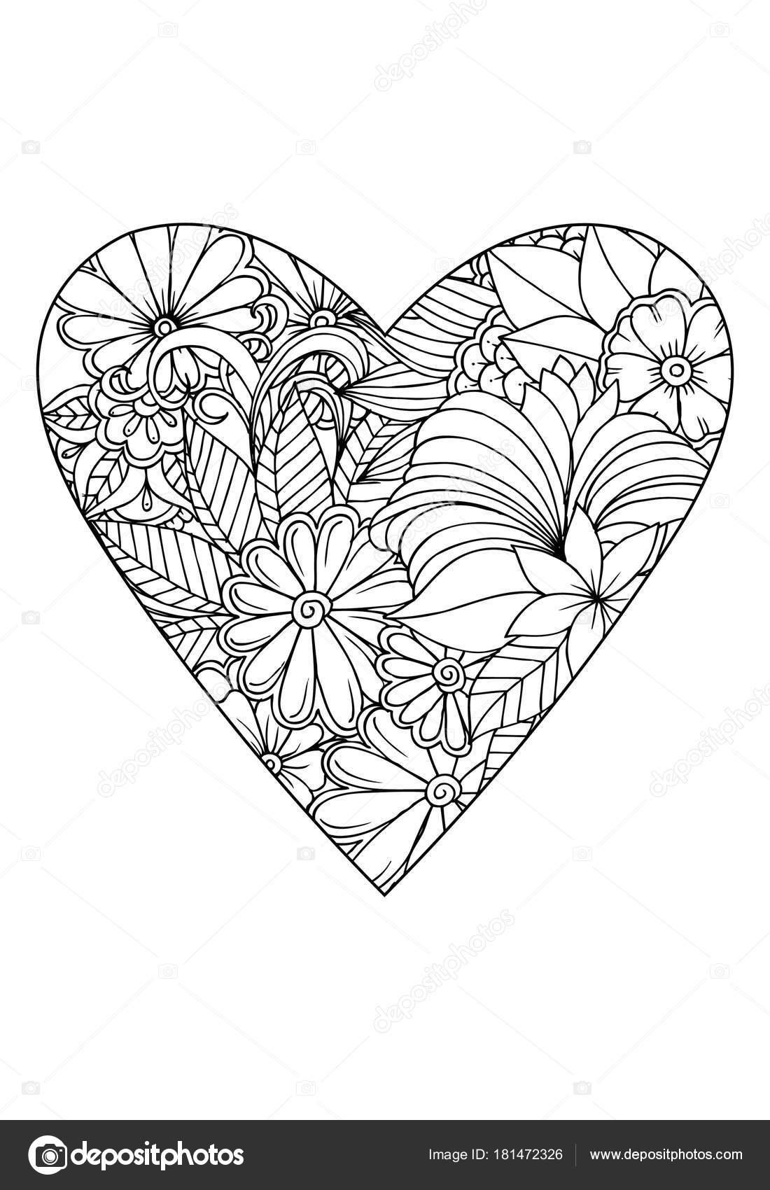 【Royalty Free】 Kalp Boyama Kitabı