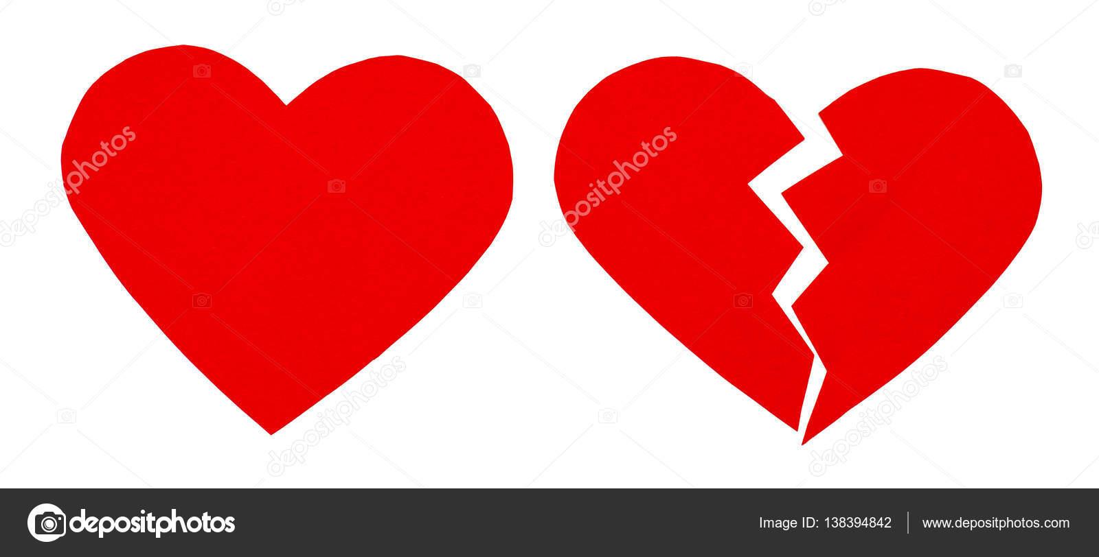Desamor Rojo / Corazón Roto. Cerca De Un Papel Roto