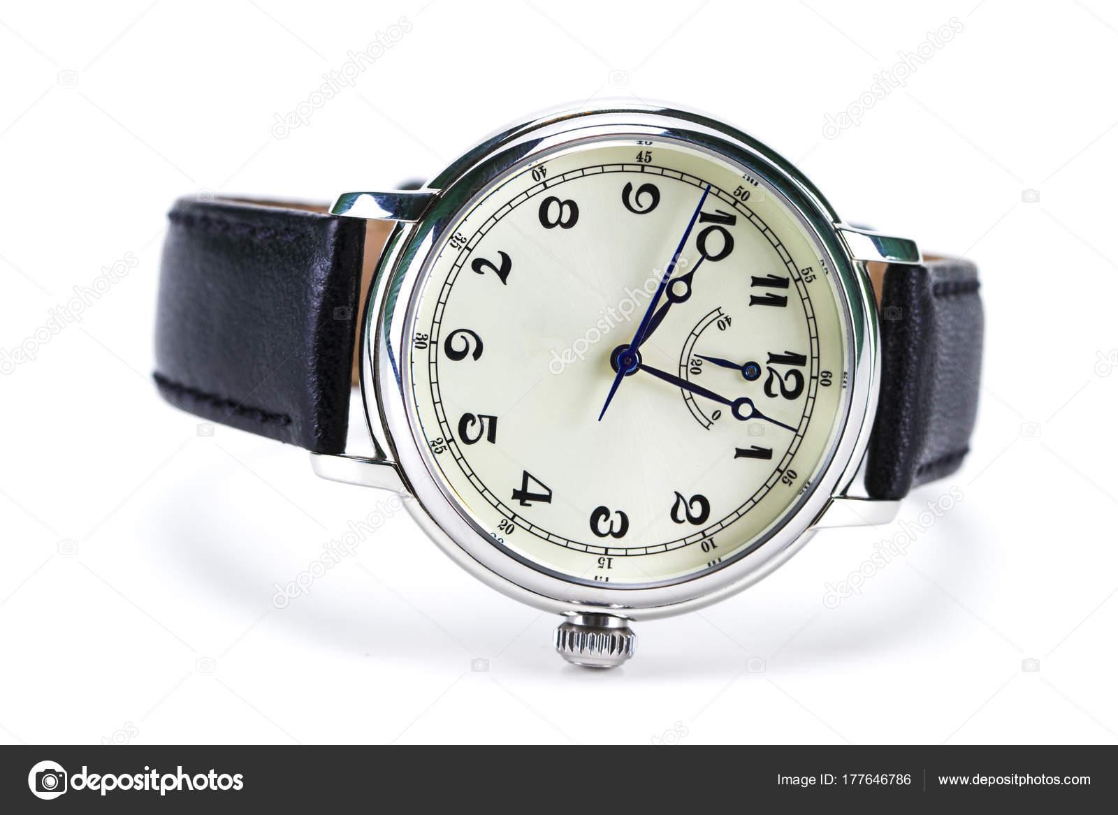 Pánské náramkové hodinky izolované na bílém pozadí — Fotografie od ... b6344e575d1