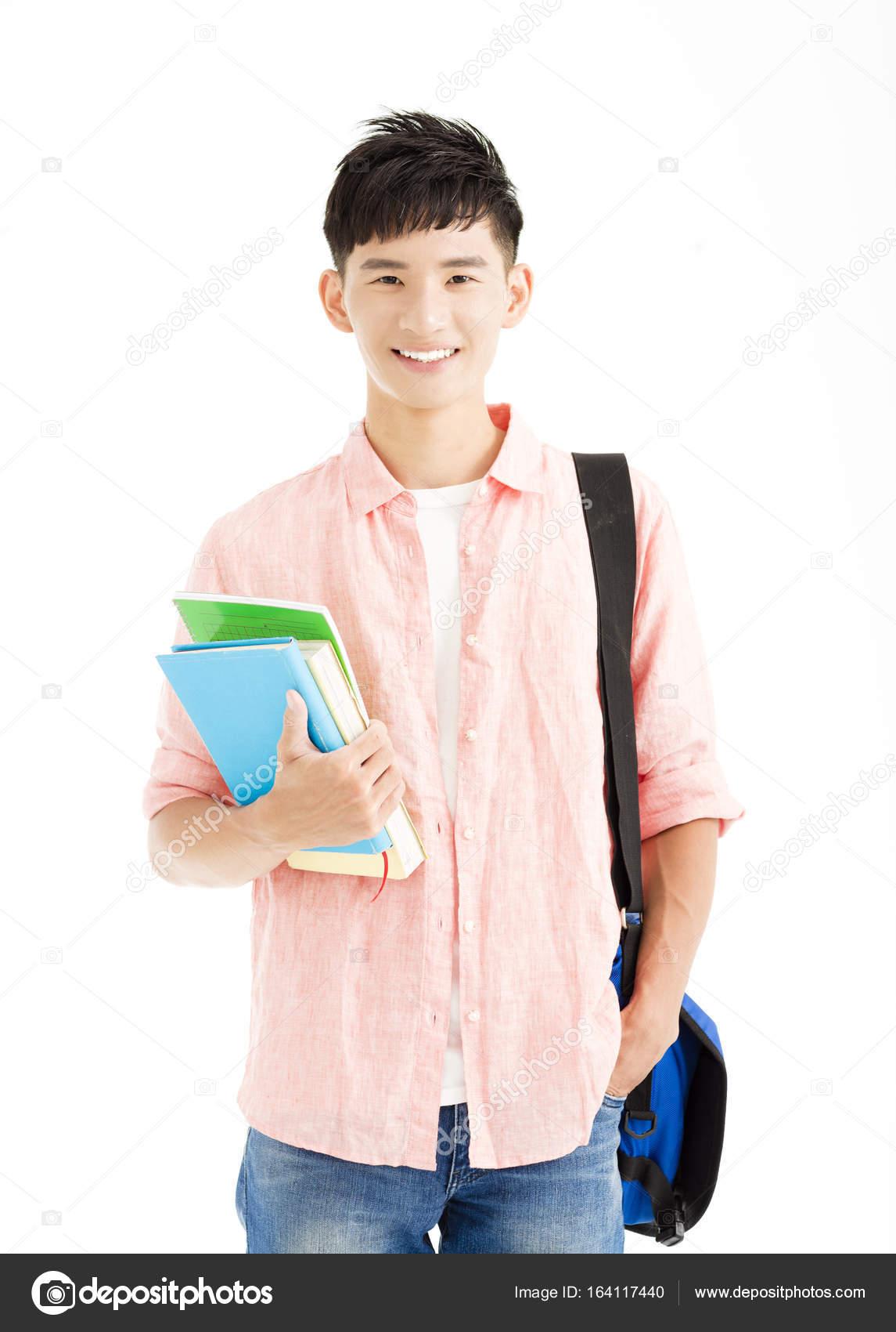 студент на белом фоне фото