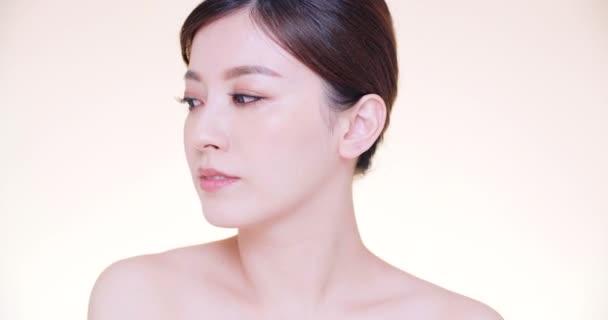 detailní asijské mladé krásy s čistou svěží pletí