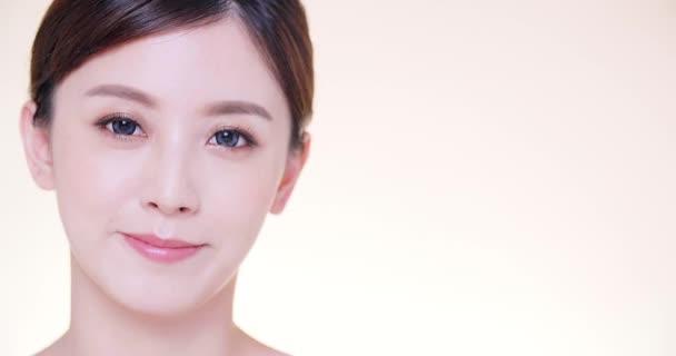 közelkép ázsiai fiatal szépség tiszta friss bőr